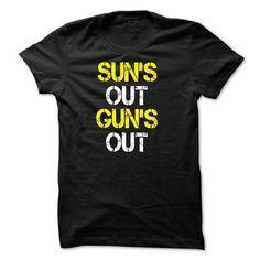 suns out guns out T-shirt - #gifts for boyfriend #groomsmen gift. WANT IT => https://www.sunfrog.com/Fitness/suns-out-guns-out-T-shirt.html?68278