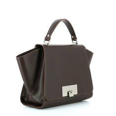 KATE KOLL Handbag Moro - Bordeaux Bordeaux, Leather Handbags, Leather Totes, Bordeaux Wine, Leather Bags