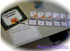 Halloween Sentence Unscramble...Huge Halloween Common Core Packet! Primary Possibilities