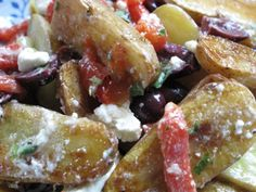 Roasted Potatoes with Greek flavours