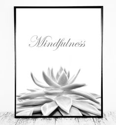 Mindfulness Print Mindfulness Poster Mindfulness by CristylClear