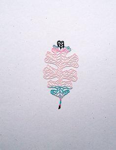 Hand cut paper art by Esther Ramirez ofessimar