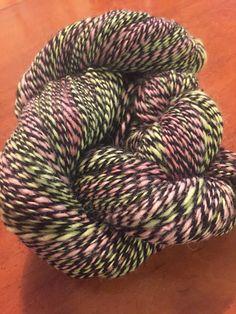 Handspun hand dyed 100% alpaca yarn