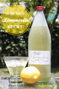 A very easy and very yummy homemade limoncello recipe that will make you feel like you're vacationing along the Amalfi Coast!