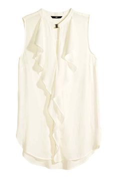 H&M white sleeveless tank. Size H&M white sleeveless tank. Size Never worn but tags have been removed. H&M Tops Blouses Western Tops, Mode Online, H&m Tops, Fashion Tips, Fashion Design, Fashion Trends, Sleeveless Blouse, Fashion Online, Clothes For Women