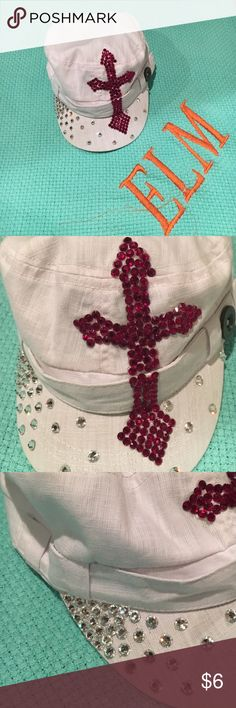 Bejeweled Urban Cap 💙***ELB Original***💙 Good condition! Fits great! Fits all sizes! Accessories Hats
