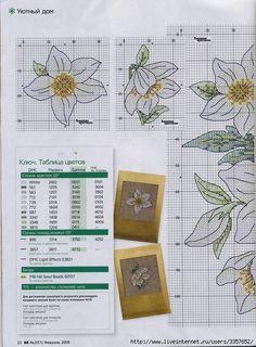 Flores punto de cruz