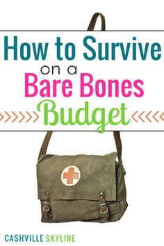 If you have been laid off, fired, or quit your job, a bare bones budget can help…