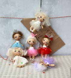 Коллекционные куклы ручной работы. Ярмарка Мастеров - ручная работа. Купить Балеринки ГОРОШИНКИ. Handmade. Комбинированный, хлопок