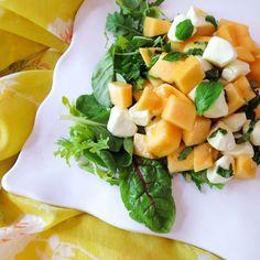 Simple Melon Caprese Salad