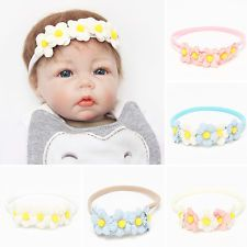 Cute Newborn Baby Girls Toddler Kids Elastic Flowers Headband Hair Band Headwear