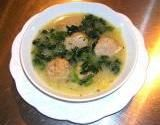 Greek style Spinach Meatball Soup