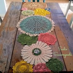 Sarah over at Sadie Seasongoods is going to show you a FABULOUS DIY…something that you can do with all of the doilies that you have collected from the Thrift Shop…Mom and a gazillion other places over the years!  It's FRESH…FUN and FABULOUS!!!! If you were looking for a POP of Color…this works perfectly…plus you get …