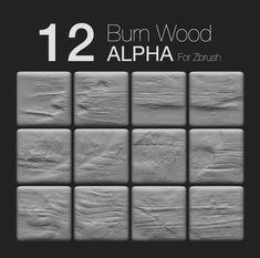 Zbrush - 12 BurnWood Alpha, Prashant Dwivedi on ArtStation at https://www.artstation.com/artwork/zbrush-12-burnwood-alpha