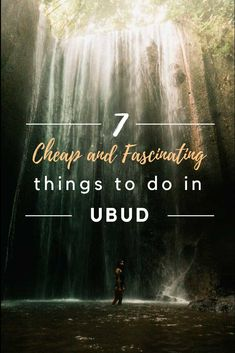 7 Cheap and Fascinating Things to Do While in Ubud - Midget Fidgets Cheap Places To Visit, Beautiful Places To Visit, Stuff To Do, Things To Do, Good And Cheap, Ubud, Journey, Waves, Island