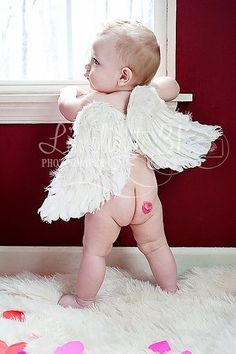 Feather Wings x Kids Toddler Adult Cherub Love Angel Fairy White Marabou Shabby Chic Photo Prop Photography w/ Elastic Straps Valentine Picture, Valentines Day Photos, Valentines Day Baby, Newborn Pictures, Baby Pictures, Children Photography, Newborn Photography, Photography Ideas, Foto Newborn