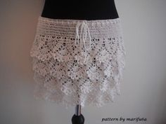 A crochet lace skirt is so easy and a gorgeous idea. how to crochet ruffle skirt- Media - Crochet Me