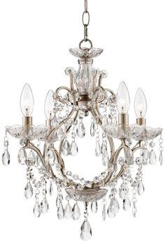 Eyja Silver Crystal 20 1/2-Inch-H Chandelier -