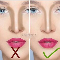Pin by Kaja on Make up Nose Makeup, Contour Makeup, Skin Makeup, Nose Contouring, Contouring And Highlighting, Beauty Make-up, Beauty Hacks, Eye Makeup Pictures, Makeup Pics