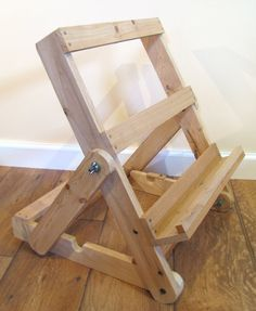 Natural upcycled pallet wood, portable art easel and/or adjustable display stand