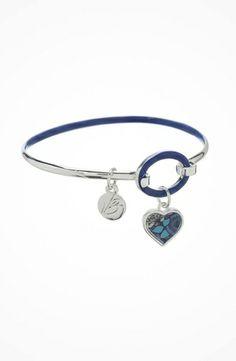 Vera Bradley Heart Charm Bracelet #accessories  #jewelry  #bracelets  https://www.heeyy.com/vera-bradley-heart-charm-bracelet-blue-bayou/