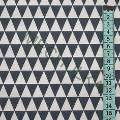 Malé trojúhelníky tmavě šedé - smetanová látka - dekorační metráž - bavlna Rugs, Home Decor, Carpets, Interior Design, Home Interiors, Carpet, Decoration Home, Floor Rugs, Interior Decorating