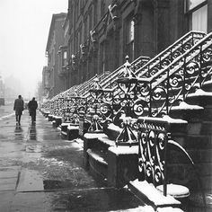 Vivian Maier - Untitled (Steps/Snow), 1955