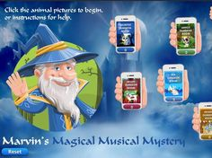 Marvin The Magical Musical Mystery Interactive Game is a musical quest designed to reinforce elements of music theory. Music Theory Games, Music Games, Dungeon Room, Jungle Room, Music Lessons, Musical Mystery, Teaching Resources, Animal Pictures, Musicals