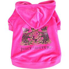 Juicy Couture for dogs!! This is this best. I want to dress my little one in all Juicy ALL the time. He can be a walking wagging Juicy Couture dachshund billboard.