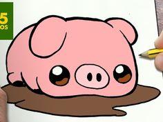 Om dbora e nanda my cute love cupcake c drawing manga 365 Kawaii, Kawaii Pig, Anime Kawaii, Cute Easy Drawings, Kawaii Drawings, Cartoon Drawings, Animal Drawings, My Cute Love, Pig Drawing