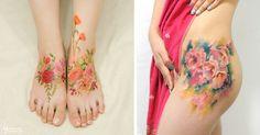 Flower Tattoos Mimic Watercolor Paintings On Skin | Bored Panda