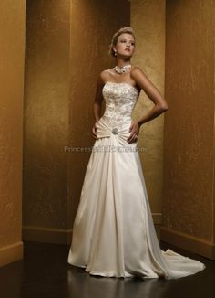 Mia Solano M487C - Wedding Dress M487C. View more online at www.PrincessBridalGowns.com.