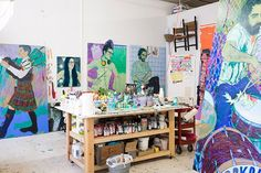 Slideshow:Inside Hope Gangloff's Studio - April 30, 2015 - BLOUIN ARTINFO, The Premier Global Online Destination for Art and Culture | BLOUIN ARTINFO