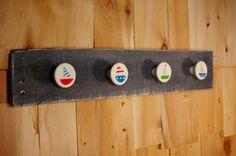 Blue Sailboat Board with 4 cute Sailboat knobs by SplintersAndNails, $25.00