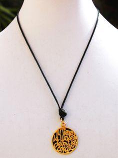 Ylana Bone  Tu Tienes la Llave de Mi Corazon Necklace by Shopkaloo, $24.00