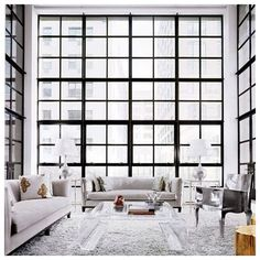 unique living room design with large windows - Home and Garden Design home design decorating before and after interior