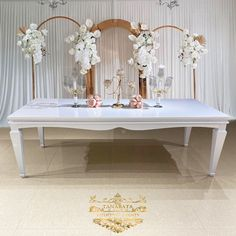 New design wedding event furniture luxury white iron metal wedding table, View luxury wedding table, Tanabata Product Details from Foshan Hardware Funiture Co., Ltd. on Alibaba.com Stainless Steel Table, Tanabata, Dining Room Furniture, News Design, Luxury Wedding, Wedding Table, Wedding Events, Wedding Gifts, Dining Table