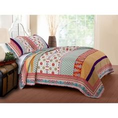 Greenland Home Fashions Thalia 3-piece Cotton Quilt Set - Free Shipping Today - Overstock.com - 19332224 - Mobile