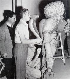 Sur le tournage des Survivants de l'infini, Joseph M. Newman, 1955.