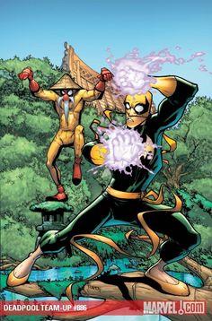 Deadpool and Iron Fist by Humberto Ramos *