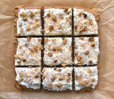 "Carrot Cake ""Brownies"""