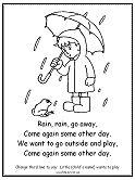 rain rain go away nursery rhyme coloring page