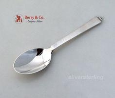"Cactus by Georg Jensen Sterling Silver Salt Spoon Master w// GI Mark Original 3/"""
