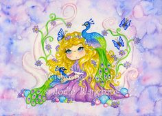 Whimsical Princess Painting children's art  The by Wishsongdesign, $20.00