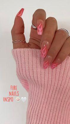 Cute Gel Nails, Edgy Nails, Stylish Nails, Trendy Nails, Swag Nails, Pink Tip Nails, Short Pink Nails, Cute Pink Nails, Pink Nail Art