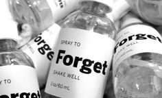 """SPRAY TO FORGET is a conceptual and functional product based on the possibility that """"a substrate to physical reality exists, and that it can be deterministically altered and influenced by human intention."""" – Duncan Laurie, The Secret Art Spray to Forget functions as a beneficial editor for one's consciousn"""