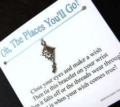 Oh The Places You'll Go  Kite Charm  Wish by PlunkettDesigns, $5.95