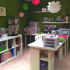 My scrapbook room and office