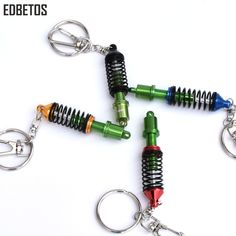 HUUYS Alloy Durable Keychain Boys and Girls Convenient Brass Key Chain Connection Ring Universal Buckle Color : Iron Alloy