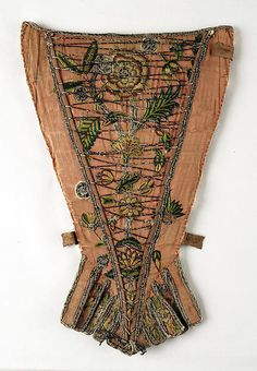 Stomacher Date: ca. 1720 Culture: British Medium: silk Accession Number: 1975.206.1